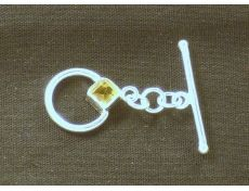 SS Toggle Clasp with Citrine $11/set
