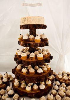 Rustic Cupcake Tower, Wedding Cupcakes, Mammoth Lakes Wedding