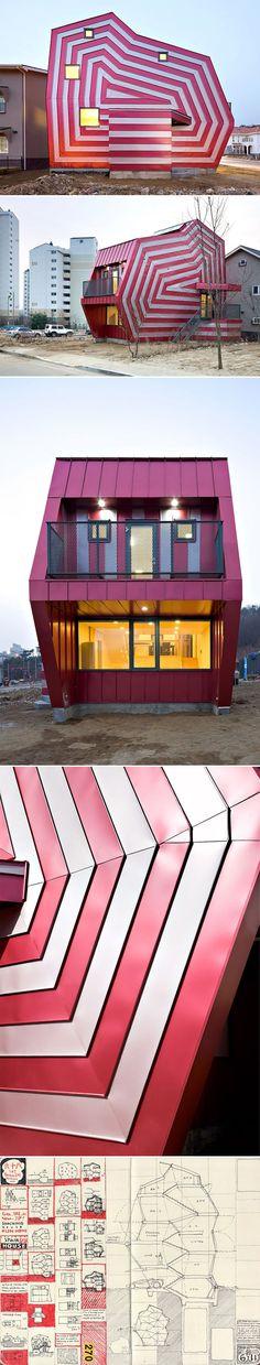 En Corée du Sud, une maison qui nous fait penser à une boîte à bonbons ! Miam ! #dccv #bonbon #archi #southkorea