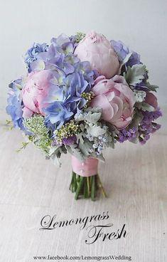 Wedding Flowers Bouquet Blue Brides For 2019 Bridal Flowers, Flower Bouquet Wedding, Beautiful Flowers, Purple Wedding Flowers, Boquette Wedding, Floral Wedding, Blue Wedding, Trendy Wedding, Bride Bouquets