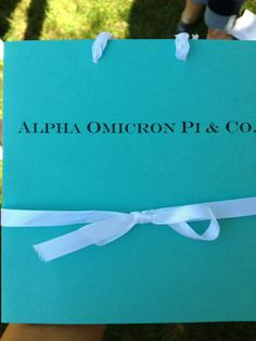 Bid Day Theme 2012 - Tiffany & Co. These were the bids our new sisters received on bid day!