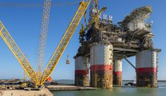 The oil and gas giant is spending billions on new projects in the Gulf of Mexico. Oil Platform, Gas Giant, Naval, Texas History, Deep Water, Gulf Of Mexico, Oil And Gas, Ingleside Texas, Golden Gate Bridge