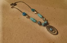 $32.99 Circle of Turquoise Necklace