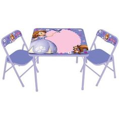 Kids Only Sofia The First Erasable Kids Square Activity Table Set
