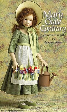Mary Quite Contrary 17.5 Inch Tall Felt Doll Edition Size: 70 Created in 2004