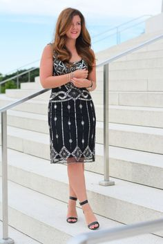 Spring Style, Chicago Blogger, Beaded Dress, Formal Wear