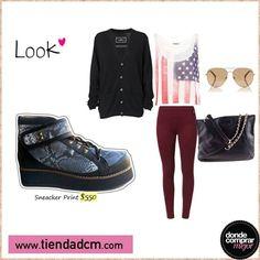 ¿Qué opinás de este look? ¿Lo usarías?  Encontrá tu sneacker en ➜ www.tiendadcm.com/venta/Sneacker+Print/84252