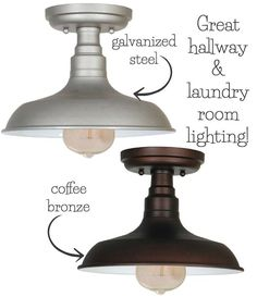 Flush Mount Ceiling Lights - My 10 Favorites! Simple, inexpensive semi flush mount lights perfect for smaller spaces like hallways, laundry rooms, and pantries Farmhouse Flush Mount Light, Farmhouse Light Fixtures, Kitchen Lighting Fixtures, Farmhouse Lighting, Farmhouse Decor, Farmhouse Style, Modern Farmhouse, Farmhouse Windows, Industrial Farmhouse
