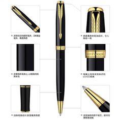 Negro de Plata de Metal Parker Marca bolígrafo Bolígrafo Canetas para la Escritura de Negocios Logo Impresión Personalizada Regalos Envío gratis 072