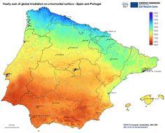 Radiazione solare penisola iberica