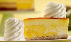 Cheesecake Factory Mango Key Lime Cheesecake Topped with Mango Mousse on a Vanilla Coconut Macaroon Crust
