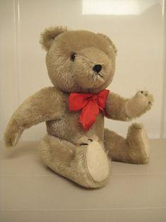 In my ETSY Shop: Hermann Vintage Gray Teddy Bear ~ 10 Inches Tall ~ Super Cute!!
