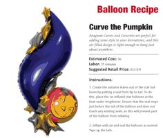 """Curve the Pumpkin — Say """"Happy Halloween!"""" with this balloon bouquet."""