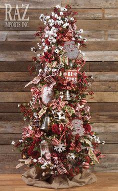 117 white christmas tree worth trying on christmas page 23 Country Christmas Decorations, Christmas Tree Design, Beautiful Christmas Trees, Farmhouse Christmas Decor, Christmas Tree Themes, Christmas Tree Toppers, Rustic Christmas, Primitive Christmas Tree, Xmas Tree