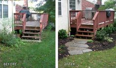 Short Walkway Before/After   Need to do this at the bottom of the stairs from the deck... less mud and dirt tracked up by the dog.
