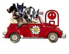 Alfabeto de perros hippies. | Oh my Alfabetos!