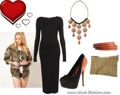 Valentine's Outfit Idea using Camo