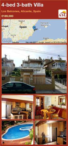 4-bed 3-bath Villa in Los Balcones, Alicante, Spain ►€189,000 #PropertyForSaleInSpain