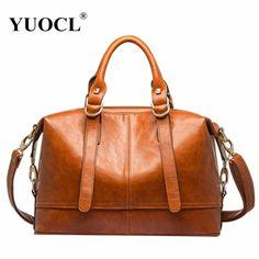 Women Messenger Bags Leather Handbags High Quality Bolsos Bolsas Fashion Sac A Main Femme De Marque //Price: $53.98 & FREE Shipping //     #womenhandbags