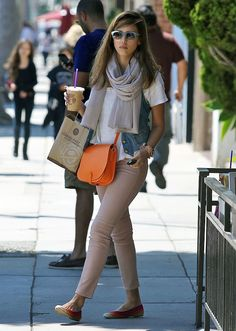 ac3617173925 Who made Jessica Alba s rainbow ballet flat shoes