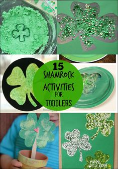 15 Shamrock Activities for Toddlers - Such a fun way to celebrate St. Patrick's Day with little ones!