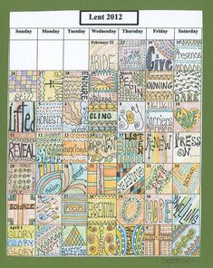 Lenten calendar prayers- Constance Denninger // You could make this for any month of the year!