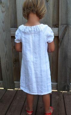 Little Girl's Dress made out of Belgian Linen by sewafineseam, $74.00