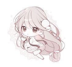 Manga Anime, Cute Anime Chibi, Moe Anime, Cute Anime Pics, Anime Girl Cute, Kawaii Chibi, Kawaii Anime Girl, Anime Art Girl, Chibi Girl Drawings