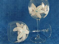 Hand Painted Bridesmaid's Glasses  Gray White by HandPaintedPetals