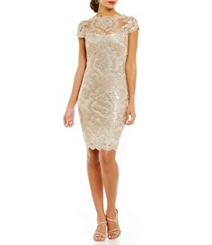 Dress your wedding party in the most beautiful bridesmaid dresses from Dillard's. From Adrianna Papell to Belle Badgley Mischka, Dillard's has all the top brands and styles for your bridesmaids. Mob Dresses, Short Dresses, Dresses For Work, Bridesmaid Dresses, Wedding Dresses, Bride Dresses, Bridesmaids, Lace Sheath Dress, I Dress
