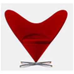 Vitra 'Heart Cone Chair' ($2,490) ❤ liked on Polyvore featuring home, furniture, chairs, red, vitra, red chair, vitra furniture, red furniture and heart chair