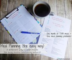 Here's a super easy way to meal plan for THM - with a totally free menu to help you get started AND free printables! https://workingathomeschool.com/2015/08/07/meal-planning-made-easy-works-for-trim-healthy-mama