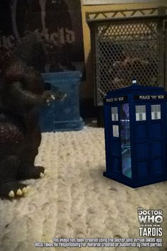 Godzilla vs TARDIS. This was made by the official virtual TARDIS app, but it at the App Store.
