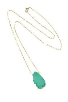 Long Turquoise Freeform Pendant Necklace by Jami Rodriguez on @HauteLook