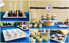 Une fête sous le thème des minions avec de belles idées pour les enfants avec des intolérances alimentaires.