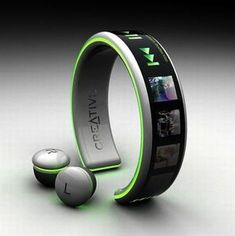 Creative Wrist MP3 Player | Wireless Earphone | iPod | Designer Gadgets | Gadgets