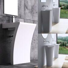 Mineralguss Waschtisch Standwaschbecken Gussmarmor Waschtischsäule Standmodell