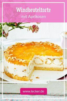 Windbeuteltorte mit Aprikosen - My list of the best food recipes Pizza Recipes, Cake Recipes, Snack Recipes, Dessert Recipes, Torte Au Chocolat, Cream Puff Cakes, Red Wine Gravy, Apricot Recipes, Flaky Pastry