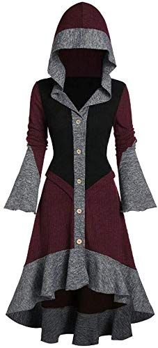 Enjoy exclusive for Women Hooded Contrast Ribbed Ruffles Flare Sleeve Button Coat High Low Cardigan online – Totrendyhot – Women Hoodies Sweatshirts – cardigan Trendy Clothes For Women, Trendy Outfits, Cool Outfits, Fashion Outfits, Fashion Site, Men Fashion, Fashion History, Fashion Details, Mode Cool