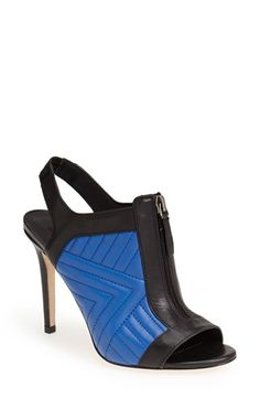Charles David 'Inverse' Quilted Leather Peep Toe Bootie