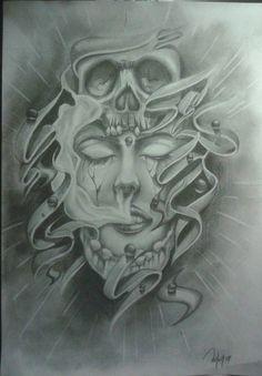 #woman #skull #death #surreal