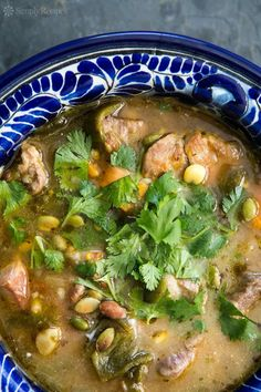 Pork and Poblano Stew Recipe | SimplyRecipes.com