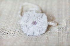 Vintage Chenille Flower Baby Halo Newborn Photo by ItsyBitsyBlooms