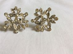 Ora Tiny Rhinestone Earrings by FrouFrou4YouYou on Etsy