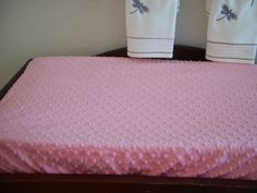 Coral Minky Changing Table Pad Cover - Ultra Soft  Minky. via Etsy.