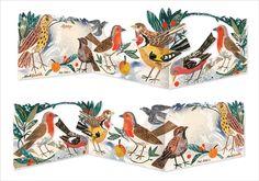 """Winter Garden Birds"" by Mark Hearld (3D greetings card)"