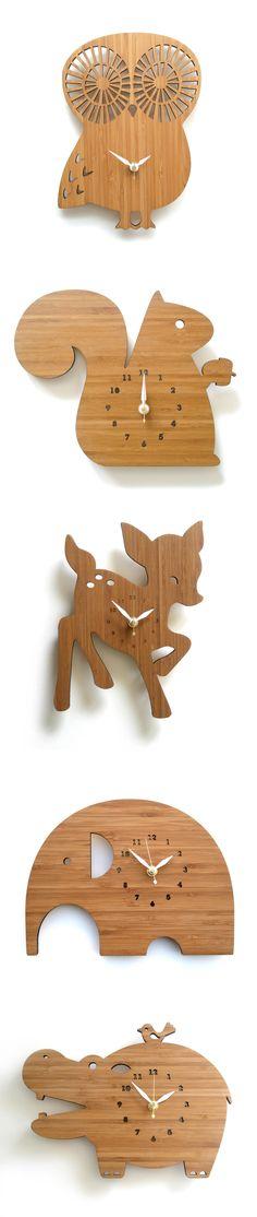 Decoylabs Modern Bamboo Clocks