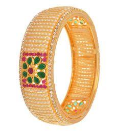 Buy Electrifying Gold & Pearl Designer Bangle. bangles-and-bracelet online
