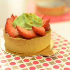 Strawberry & Pistachio Tart Nadege Patisserie