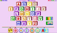 Learning the alphabet, letter sounds (phonics) and sight words with educational apps like the apps recommended here for growing readers. Balanced Literacy, Letter Sounds, Alphabet Sounds, Abc Alphabet, English Alphabet, English Phonics, Alphabet Blocks, Kindergarten Literacy, Literacy Skills